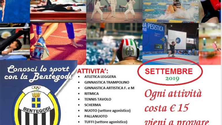 CONOSCI LO SPORT SETTEMBRE 2019